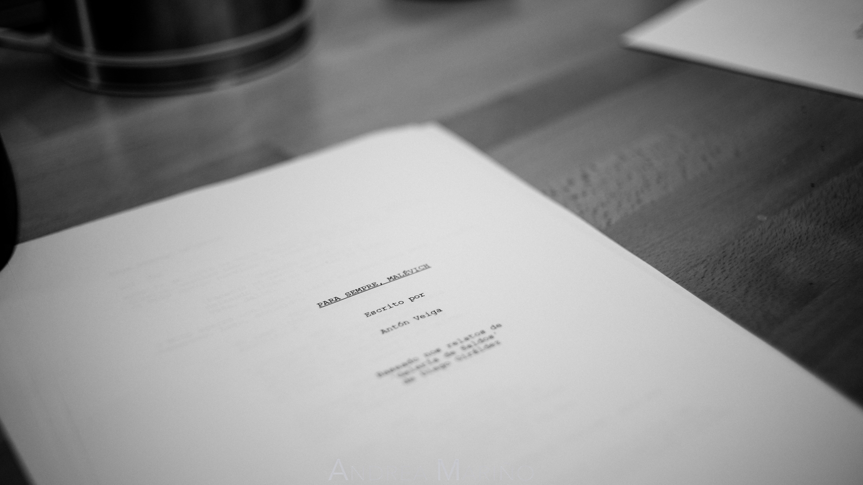 Guión del corto escrito por Antón Veiga
