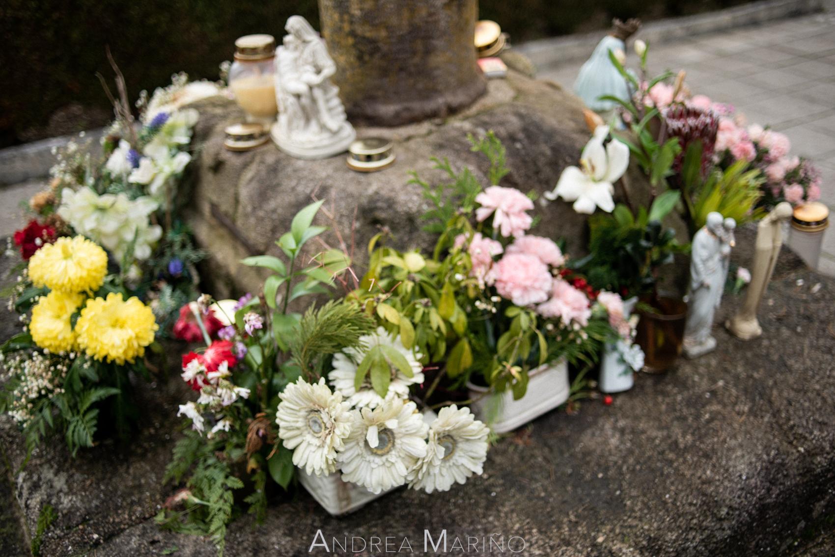 Flores en el cementerio