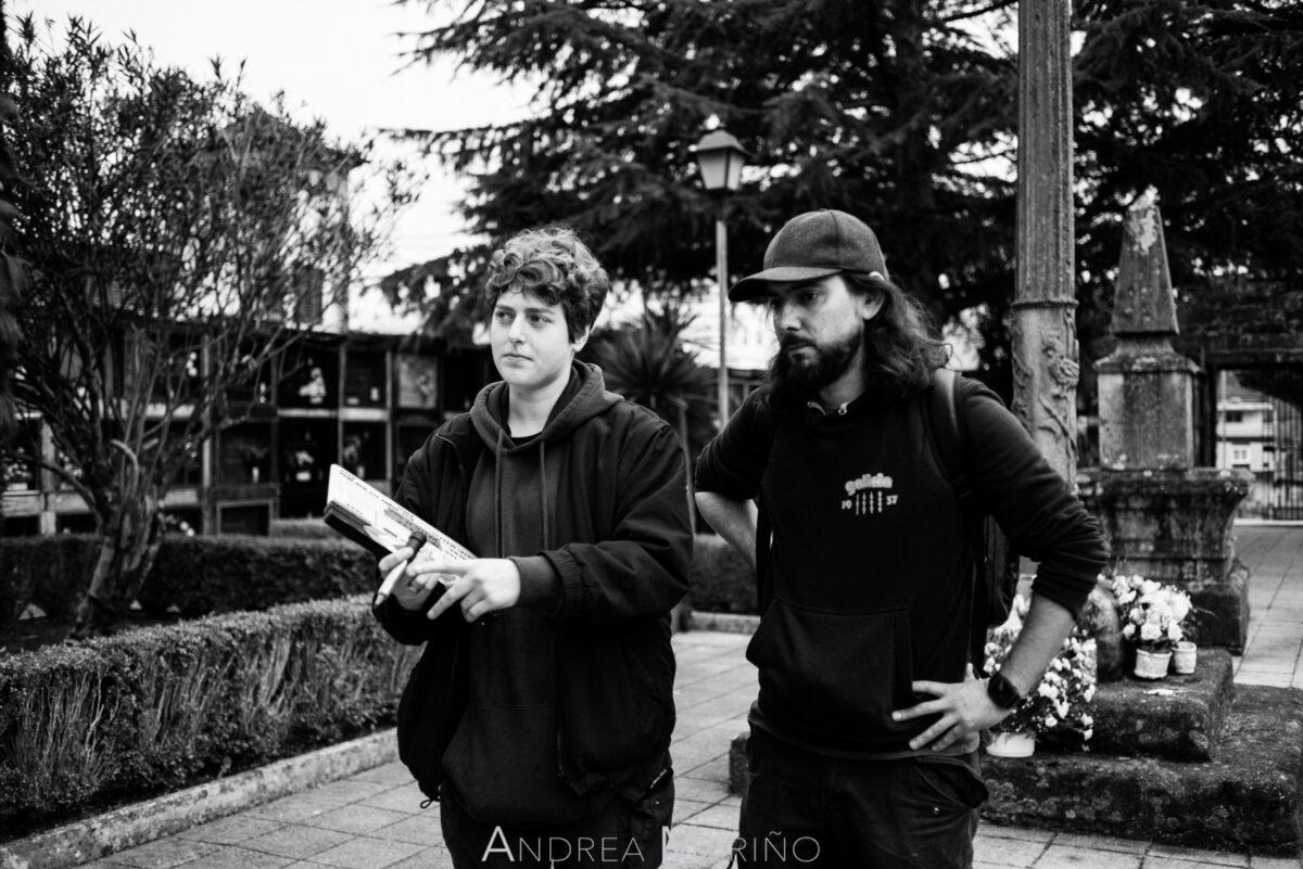 Ayudante de cámara y director del cortometraje