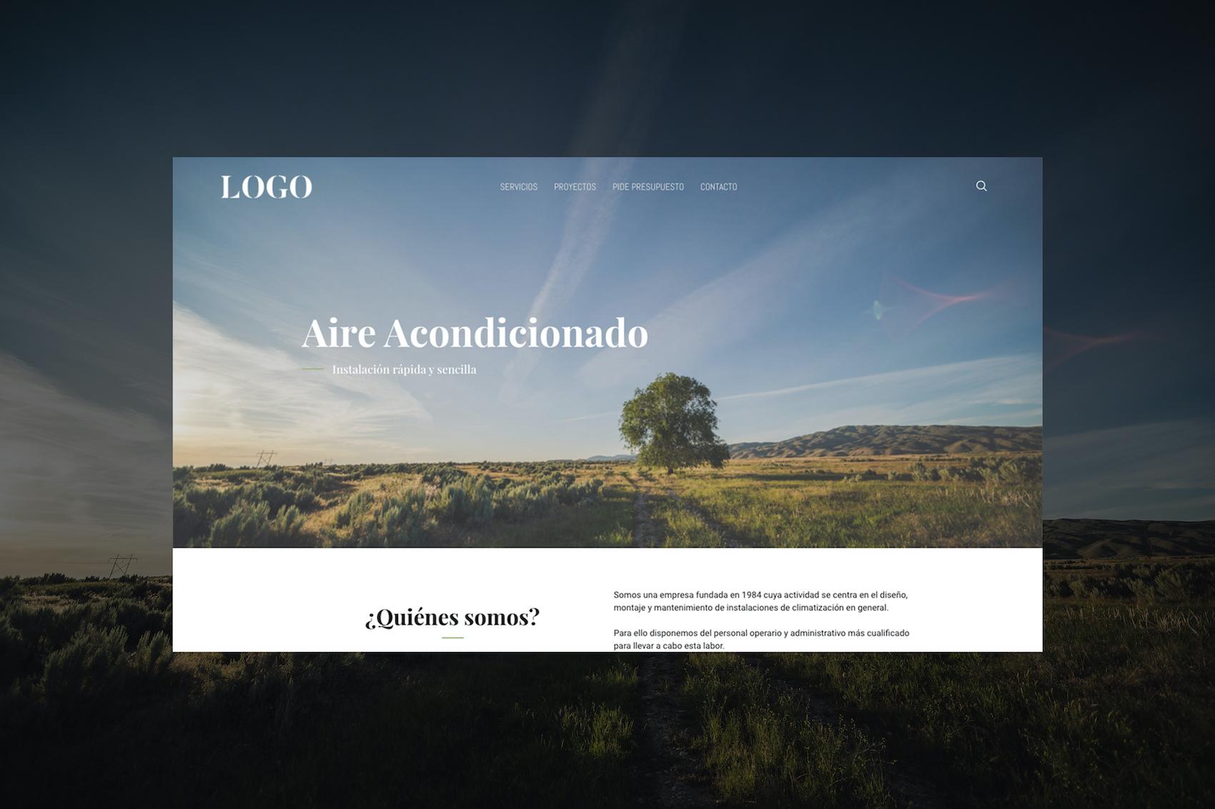 Portfolio persoal de deseño web: ordenador