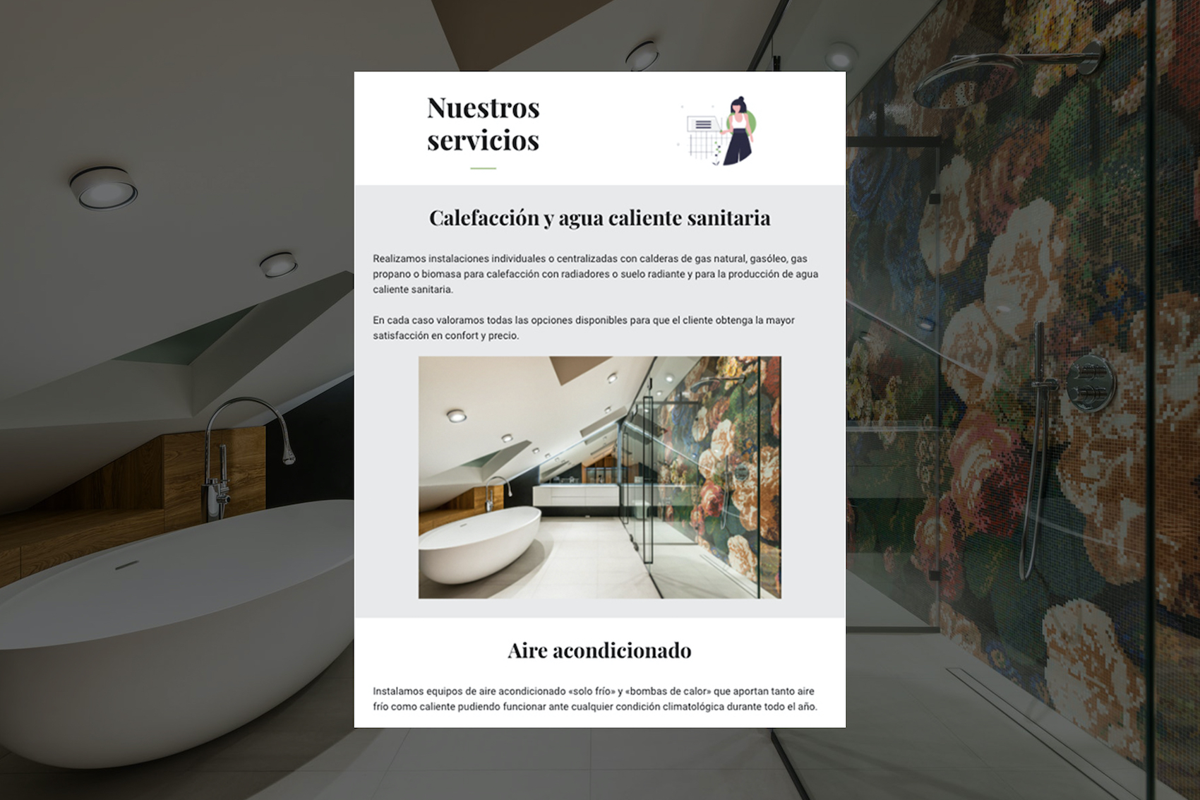 Portfolio persoal de deseño web: tablet