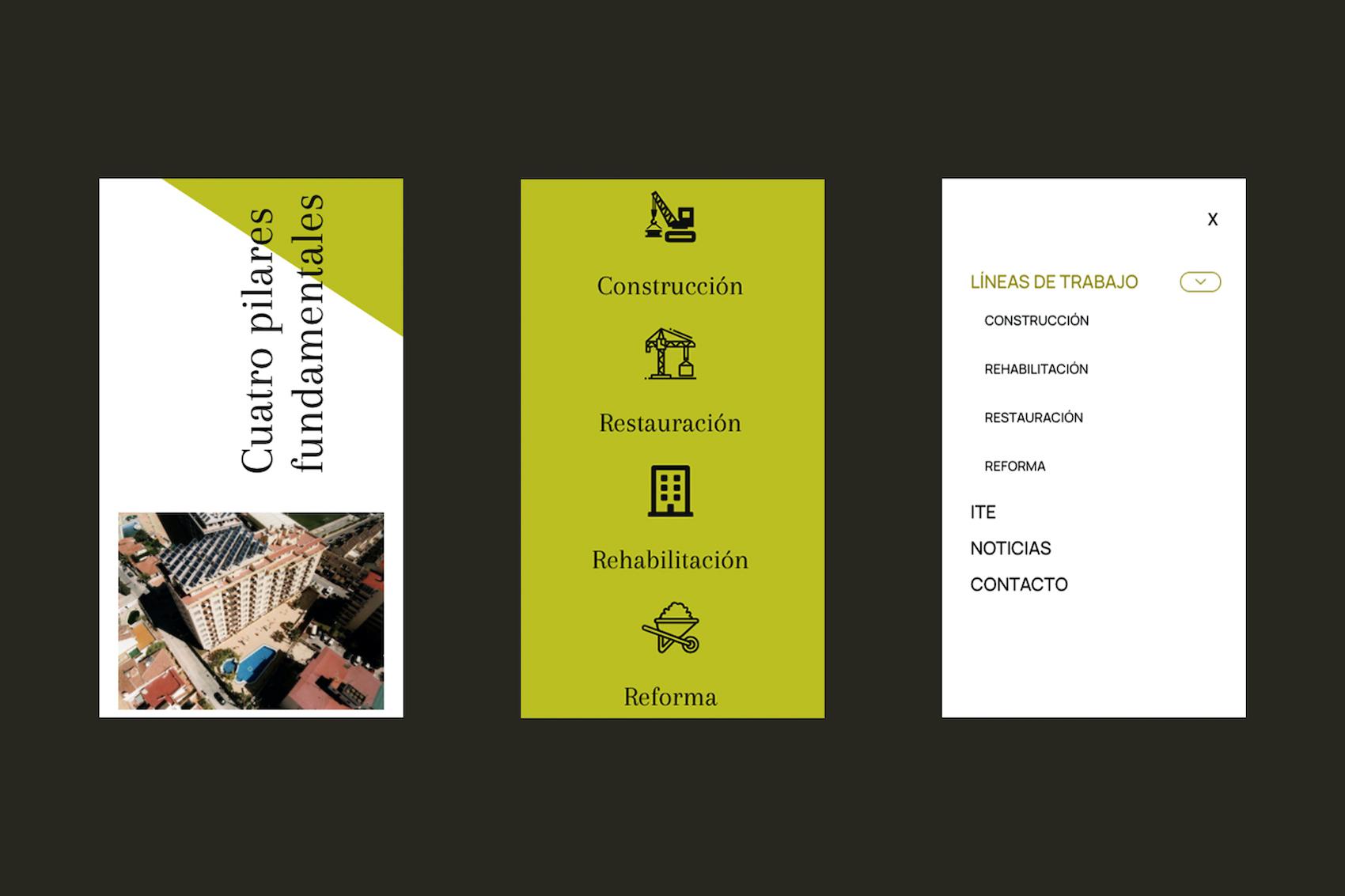 Portfolio persoal de deseño web: móbil